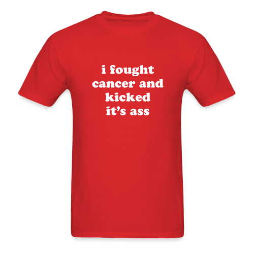 Kicked Cancer Ass - Men's T-Shirt