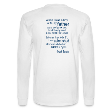 White Father's Day Quote (Twain) Long Sleeve Shirts