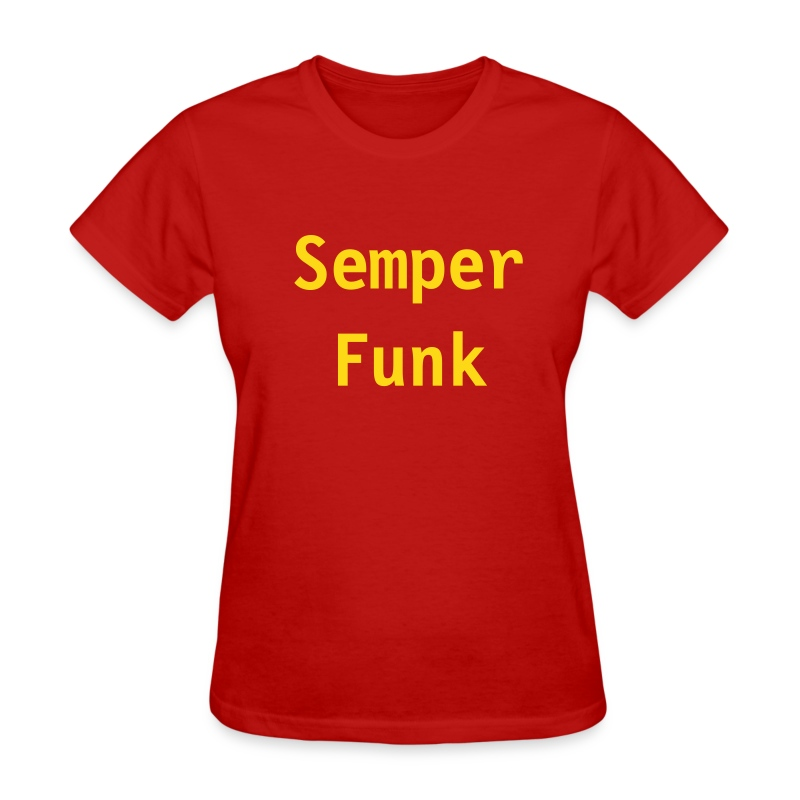 Semper Funk Women's Gray/Gold - Women's T-Shirt