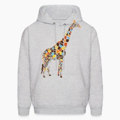 Ash  Colorful Giraffe Hoodies
