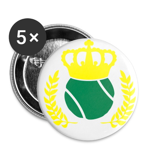 Tennis Champions Reflective Gold Print - Large Buttons