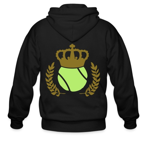 Tennis Champions Reflective Gold Print - Men's Zip Hoodie