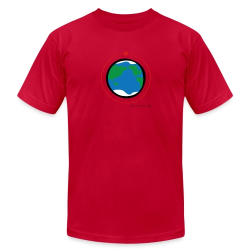 Happy New Moment - Men's Love Orbit 2 - Men's Fine Jersey T-Shirt
