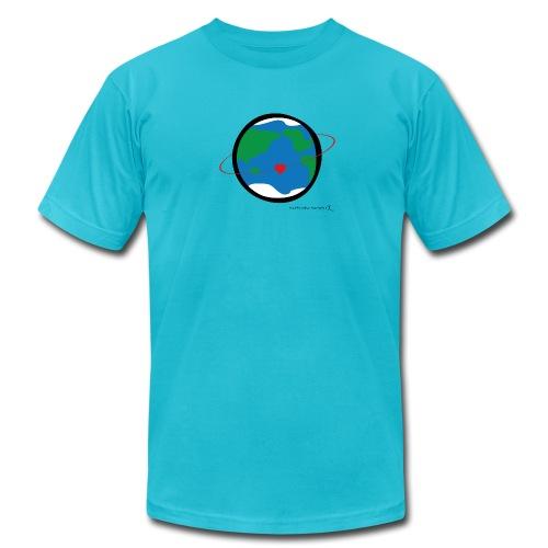Happy New Moment - Men's Love Orbit 1 - Men's Fine Jersey T-Shirt