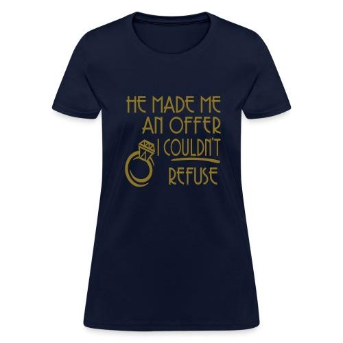 WUBT 'Made Me An Offer, Ring' Women's Standard Tee, Navy - Women's T-Shirt