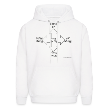 White Stage Directions (For Light T's) Hoodies