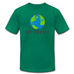 The World Is My Office - Men's Fine Jersey T-Shirt