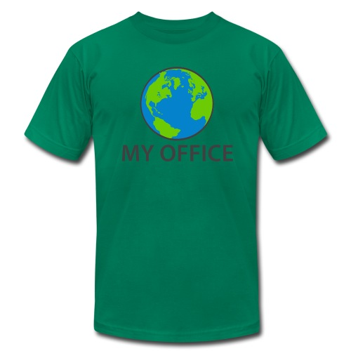 The World Is My Office - Men's  Jersey T-Shirt