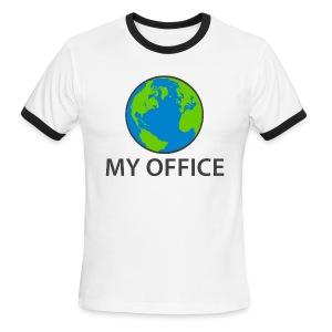 The World Is My Office - Men's Ringer T-Shirt