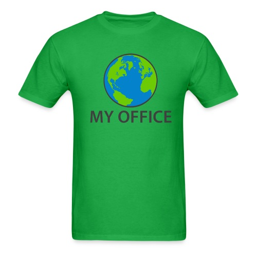 The World Is My Office - Men's T-Shirt