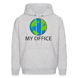 The World Is My Office - Men's Hoodie