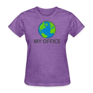 The World Is My Office - Women's T-Shirt