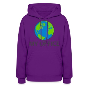 The World Is My Office - Women's Hoodie