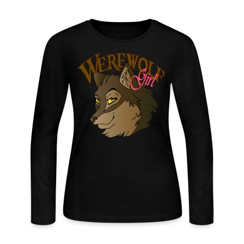Werewolf Girl - Women's Long Sleeve Jersey T-Shirt