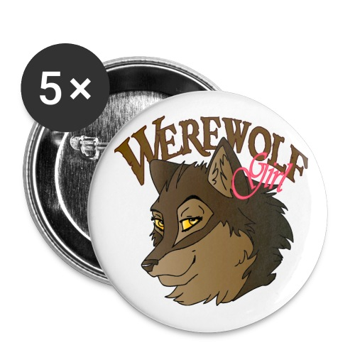 Werewolf Girl - Large Buttons