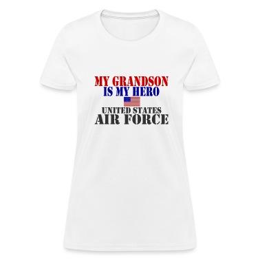White GRANDSON HERO USAF Women's T-Shirts