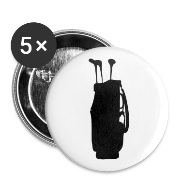 White golf bag Buttons
