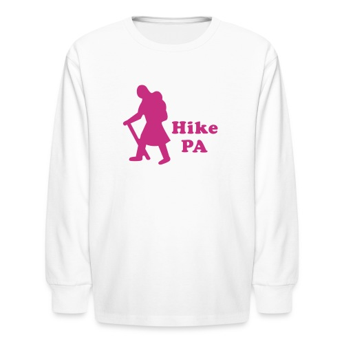 Hike PA Girl - Kids' Long Sleeve T-Shirt