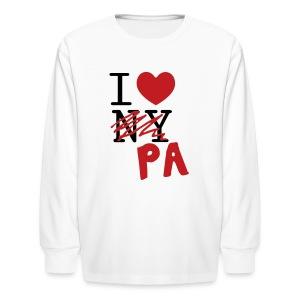 I Love (PA) Pennsylvania - Kids' Long Sleeve T-Shirt