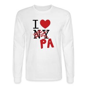 I Love (PA) Pennsylvania - Men's Long Sleeve T-Shirt
