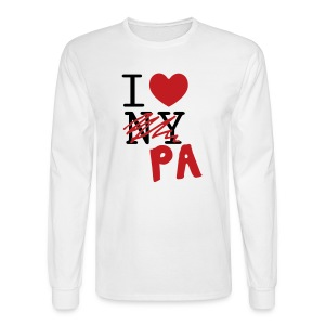 I Love (PA) Pennsylvania - Men's Long Sleeve T-Shirt