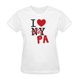 I Love (PA) Pennsylvania - Women's T-Shirt