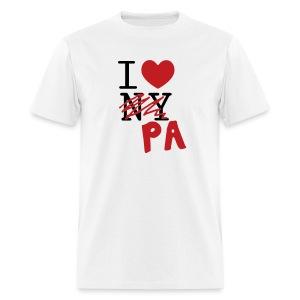 I Love (PA) Pennsylvania - Men's T-Shirt