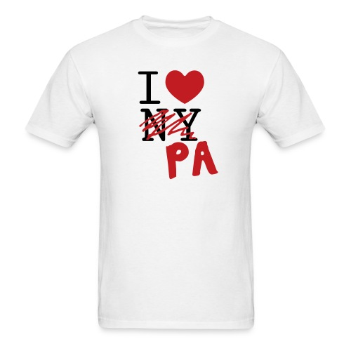 I Love (PA) Pennsylvania - Men's T-Shirt
