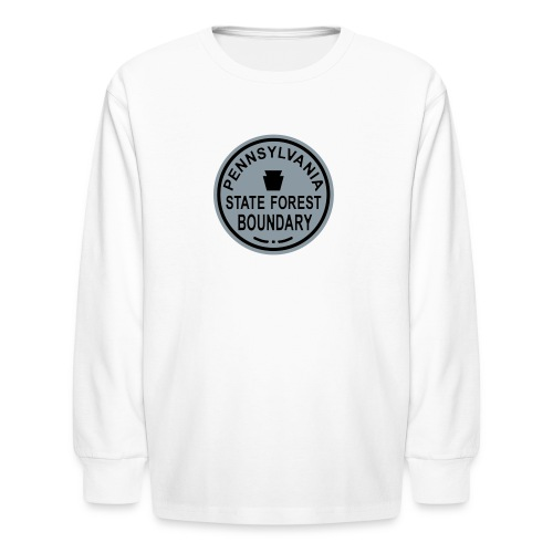 PA State Forest Boundary - Kids' Long Sleeve T-Shirt