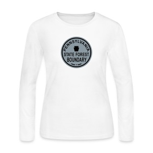 PA State Forest Boundary - Women's Long Sleeve Jersey T-Shirt