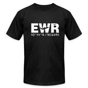 Newark Airport Code EWR Solid Men's T-shirt Black - Men's T-Shirt by American Apparel