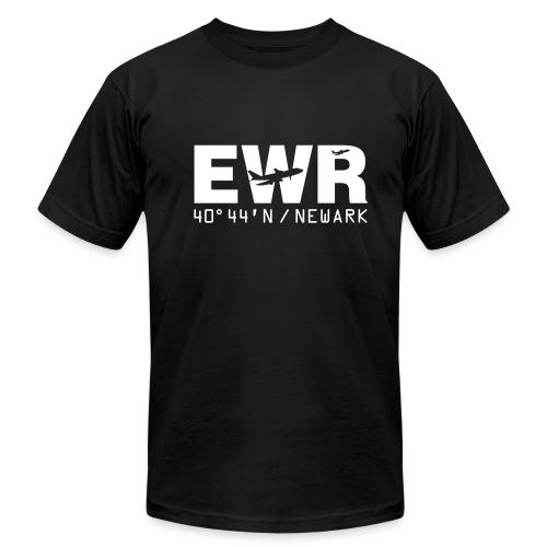 Newark Airport Code EWR Solid Men's T-shirt Black - Men's Fine Jersey T-Shirt