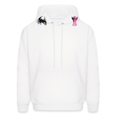 White ANGEL vs DEVIL on my shoulders Hoodies