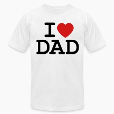 White I Heart Dad T-Shirts