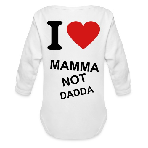 BABY TALKIN SMACK!  - Organic Long Sleeve Baby Bodysuit