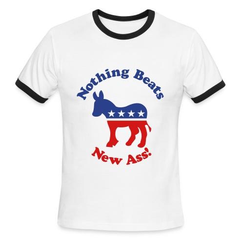 Nothing Beats New Ass - Men's Ringer T-Shirt