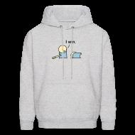 Hoodies ~ Men's Hooded Sweatshirt ~ I Win. men's hoodie