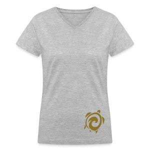 Womens V-neck Sea Turtle Tee - Women's V-Neck T-Shirt