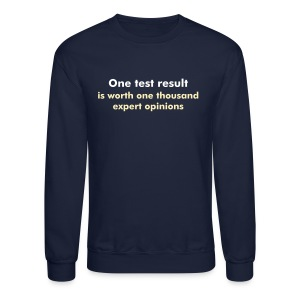 YellowIbis.com 'Engineering One Liners' Men's / Unisex Longsleeved Sweatshirt: One test result (Navy) - Crewneck Sweatshirt