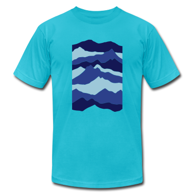 Turquoise mountains - nature - waves - water T-Shirts