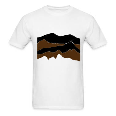 White mountains - hill - nature - waves - water T-Shirts