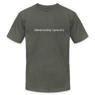 T-Shirts ~ Men's T-Shirt by American Apparel ~ [genericallycynical]