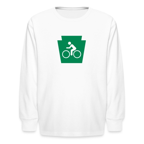 PA Keystone w/Biker - Kids' Long Sleeve T-Shirt