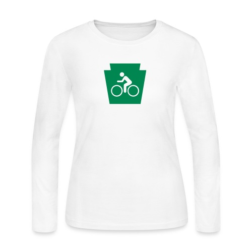 PA Keystone w/Biker - Women's Long Sleeve Jersey T-Shirt