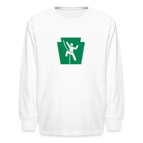 PA Keystone w/Climber - Kids' Long Sleeve T-Shirt