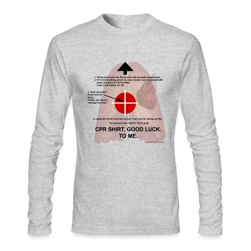 CPR Shirt - Men's Long Sleeve T-Shirt by Next Level