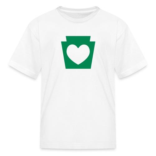 PA Keystone w/Heart - Kids' T-Shirt