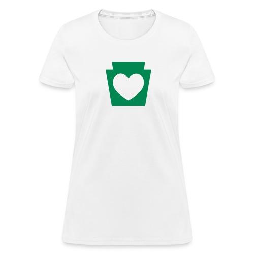 PA Keystone w/Heart - Women's T-Shirt