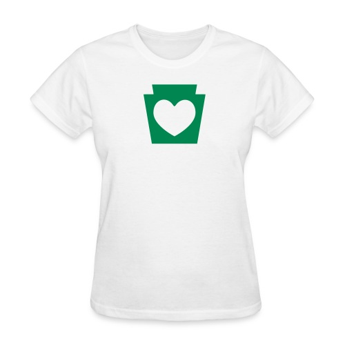 PA Keystone w/Heart - Women's T-Shirt