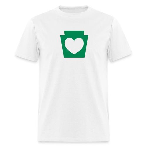 PA Keystone w/Heart - Men's T-Shirt